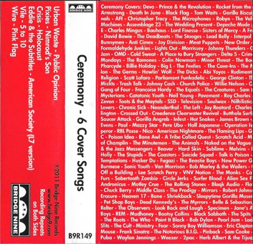 Ceremony - 6 Cover Songs (2011) [FLAC] Download