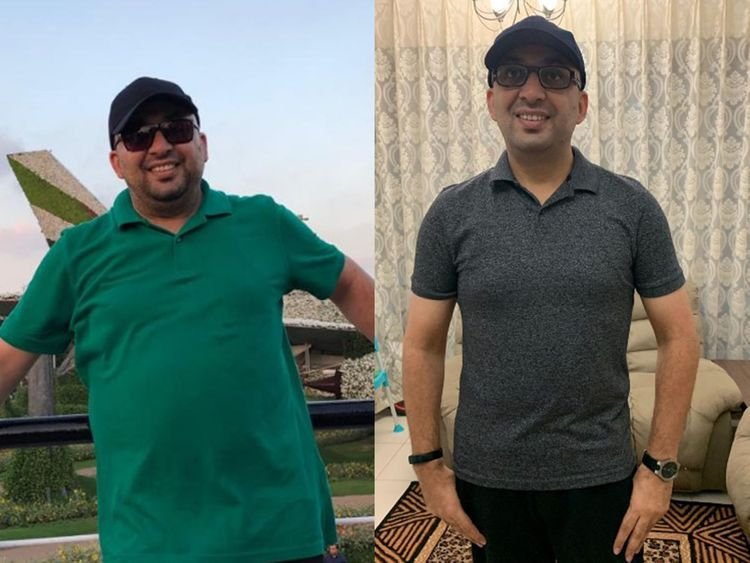 Before and after Asif