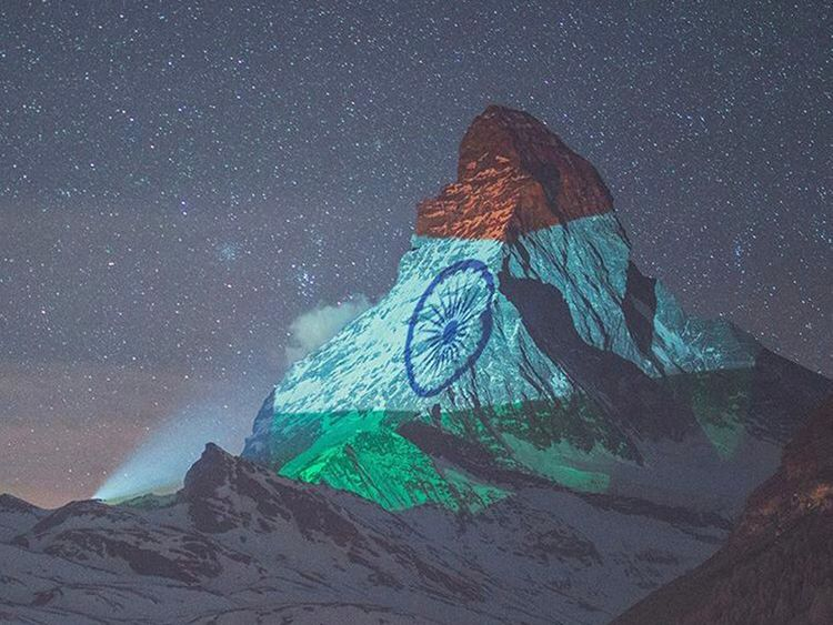 COVID-19: India flag displayed on Matterhorn mountain, Switzerland in solidarity