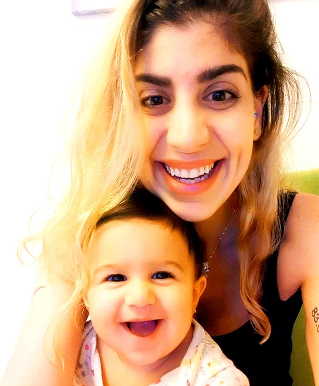 Reem Yousef with nine-month-old Relle