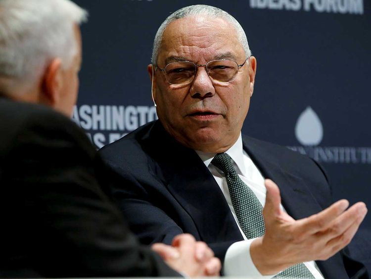 Former US Secretary of State Colin Powell