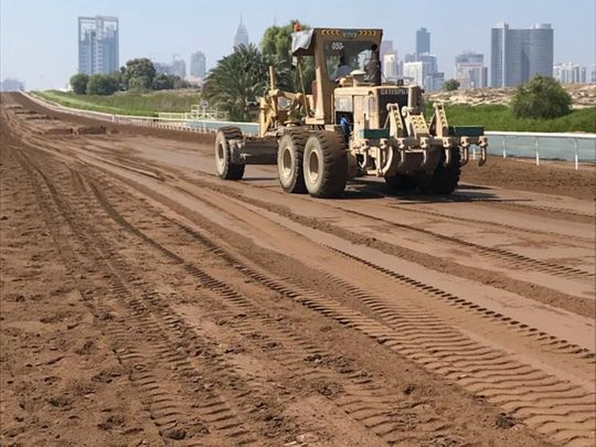 Work on Jebel Ali Racecourse is nearing completion
