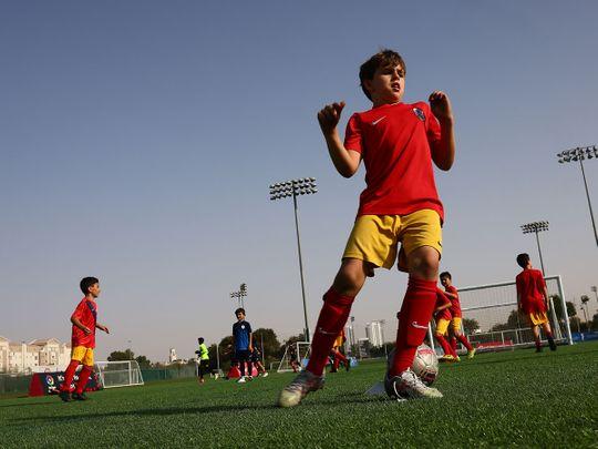 Players train at Inspiratus Sports District's La Liga Academy