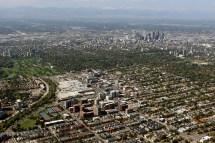 Cherry Creek Downtown Aerial Denver