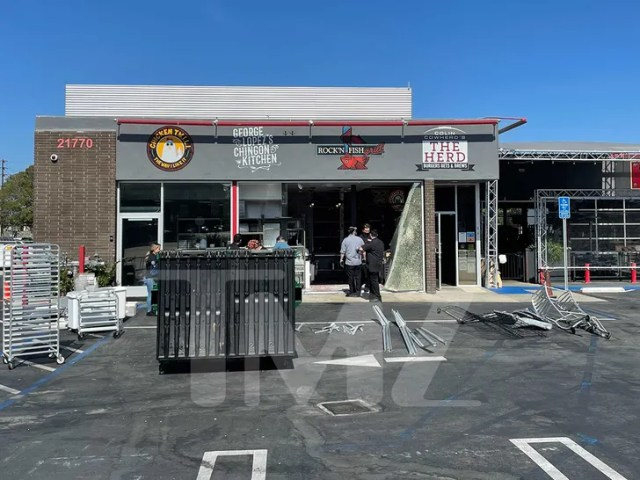 george lopez restaurant car crash