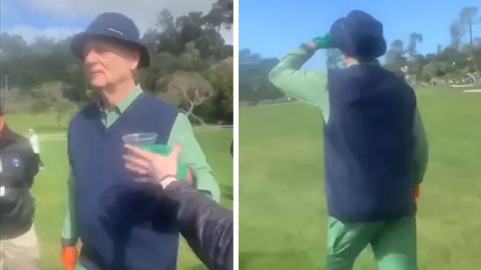 Bill Murray Rips Fan's Tequila Shot Mid-Round At Golf Professional-Am, Hilarious Video!