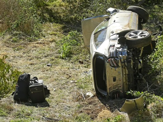 Tiger Woods Car Crash in Rancho Palos Verdes