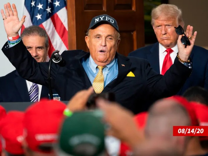 Rudy Giuliani and Donald Trump