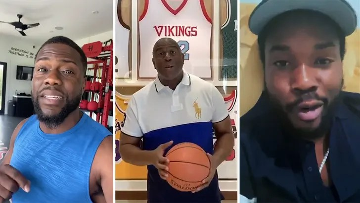 Kevin Hart, Justin Bieber And Magic Johnson Join The All For COVID 19 Relief challenge