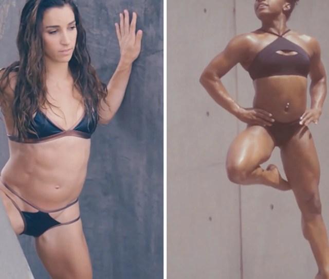 Simone Biles And Aly Raisman Pose For S I Swimsuit