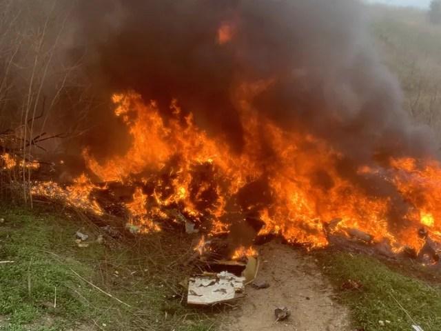 New Kobe Bryant Helicopter Crash Site Photos Show Intense Fireball