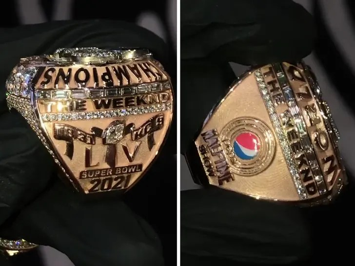 Image result for the weeknd super bowl halftime show ring