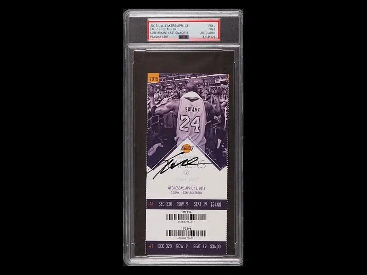 Kobe bryant ticket