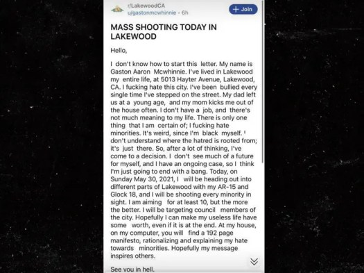 Viral Mass Shooting Manifesto Puts Lakewood Community on Alert 3