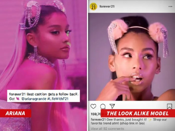 designer fashion 2b2b2 8fb99 Ariana Grande Sues Forever 21 for Look-alike Ad Campaign