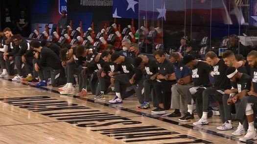 LeBron James Leads NBA Players Kneeling For National Anthem In NBA Restart 2