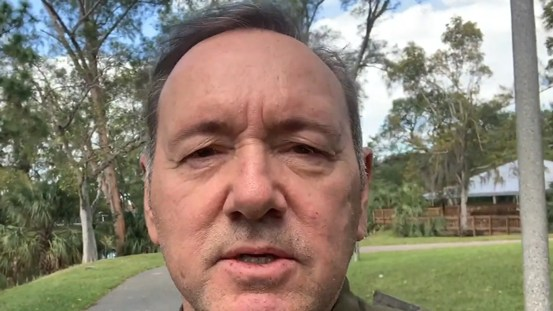 Kevin Spacey says in a message on Christmas Eve that friends were contemplating suicide