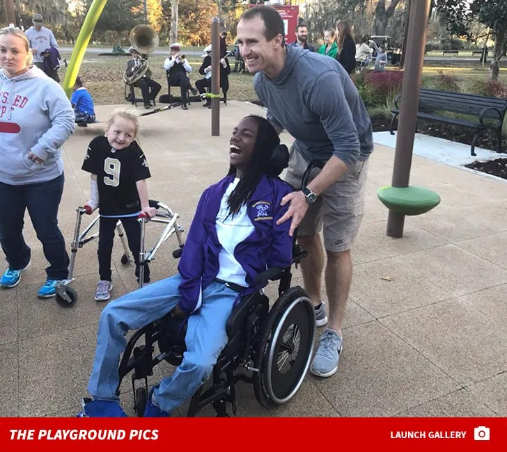 Drew Brees Opens Playground for Special Needs Kids