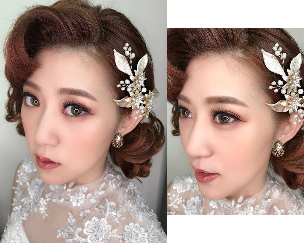 自然深邃眼妝&段式眼影畫法 – Maggie wang 新娘秘書