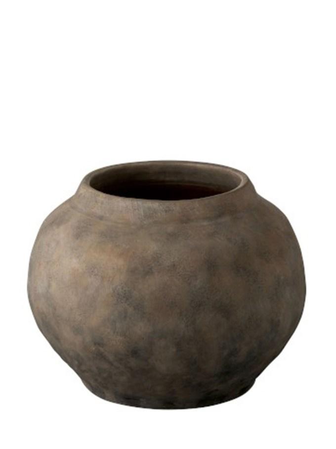 Vaas Etnic Rond Terracotta Bruin Small