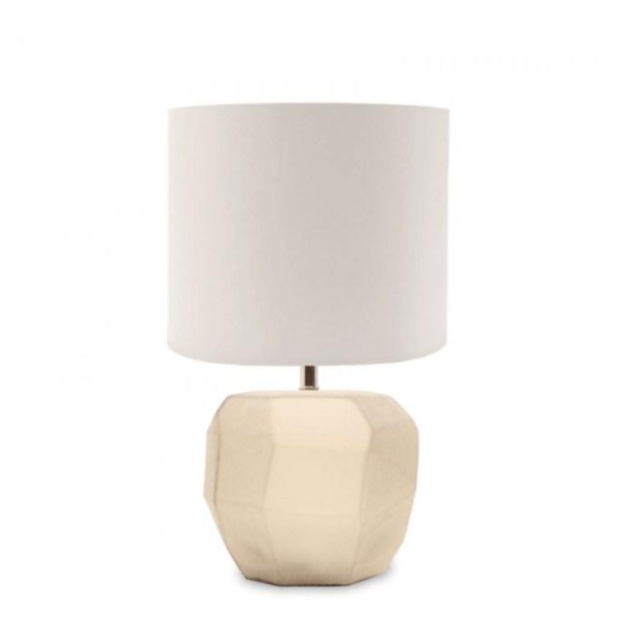 guaxs kubistische tafellamp smokewhite rond