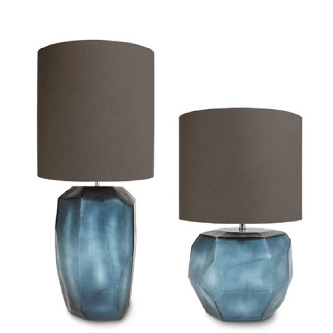 guaxs kubistische tafellamp blauw rond