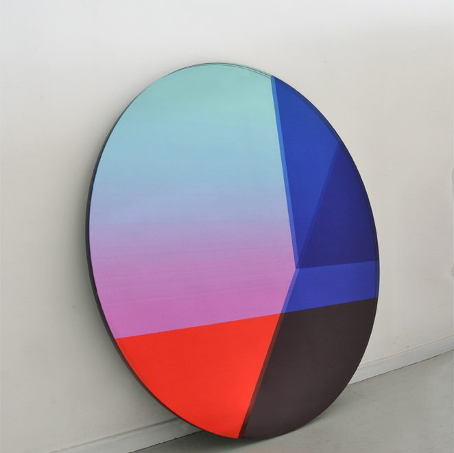 SEEING GLASS by Sabine Marcelis Printed and Laminated Mirror with Custom Shape