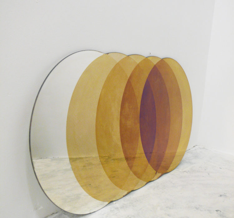 Transcience Mirror by David Derksen Printed and Laminated Mirror Cut to Custom Shape