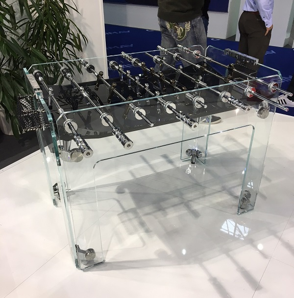Custom glass foosball table