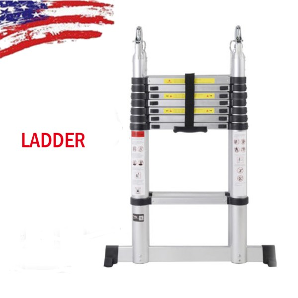 16.5ft Aluminum Multi-purpose Telescopic Ladder Extension Stretchable Foldable