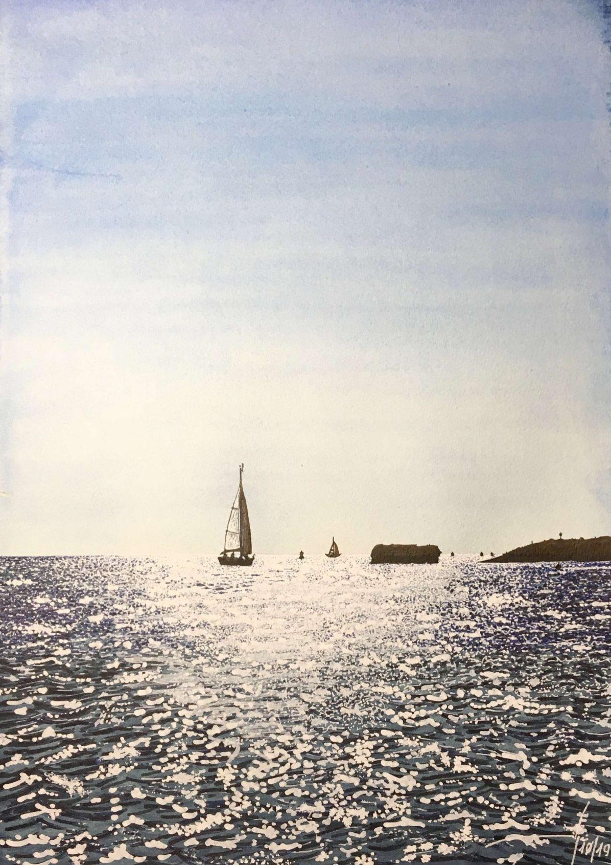 Ciutadella Menorca - 42x30cm - Acuarela y tinta china