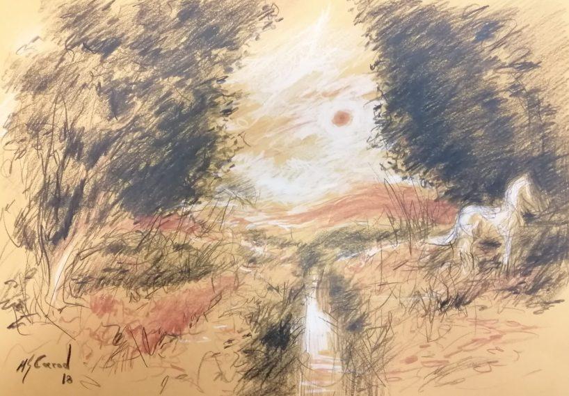 Luz del crepúsculo - 25x36cm - Lápiz sobre cartulina 280g (2018)