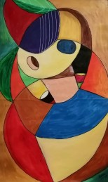 Awiwu (mujer) - 76x46 cm - Acrílico sobre tela (Serie Kami Mai)