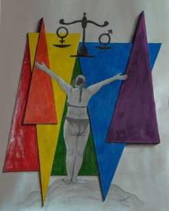 Igualdad - 47,5 x 61,5cm - Técnica mixta sobre papel