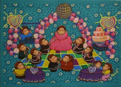 Ritual mexicano - 55 x 75 cm. - Acrílico sobre lienzo