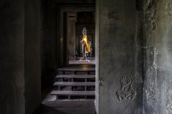 Buddha with the golden robe #Angkor