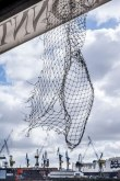 A net in the wind