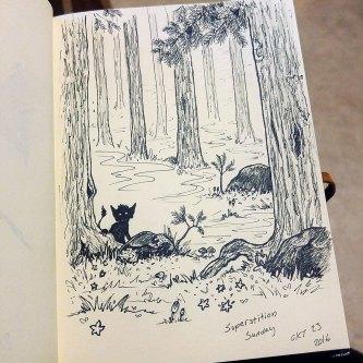 Imaginary Karin - inktober drawlloween troll forest