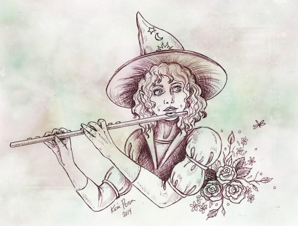 Imaginary Karin - hobbit minstrel drawing