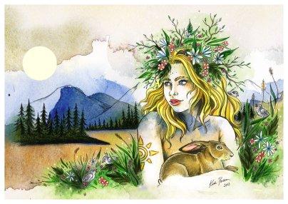 Imaginary Karin - midsummer 2013 drawing