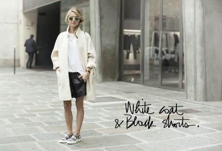 http://www.garancedore.fr/en/2013/10/05/white-coat-black-shorts/