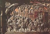 """La Toma de Setenil el 21 de septiembre de 1484 quedará reflejada en uno de los respaldos de la soberbia Sillería de la Catedral de Toledo. El Coro bajo, donde está Setenil, es obra de Rodrigo Alemán. La escena muestra la rendición del alcaide """"moro"""", El Cordi, ante el Rey Fernando el Católico. Isabel estaba en Córdoba. Unos 200 vecinos musulmanes serán escoltados hasta Ronda. Un reducido grupo, unos 25, se quedará y fundará Alcalá del Valle. Abajo podéis ver un mapa con su localización."""
