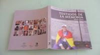 """Portada y contraportada de """"Testigos de la Memoria"""", de Rafael Guerrero."""
