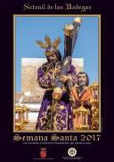 Cartel de Semana Santa 2017 de Los Negros. Foto: MARIO GARCÍA VARGAS. Padre Jesús subiendo la calle Cádiz, con el Torreón al fondo.