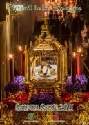 Cartel de Semana Santa de Los Blancos. Autor de la fotografía: MARIO GARCÍA VARGAS. El Santo Entierro en La Cantarería.
