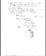 Relación de los daños causados en los templos de Setenil en la destrucción realizada por el párroco Jerónimo Troya, firmado firmado el 20 de agosto de 1939. Pagina 4