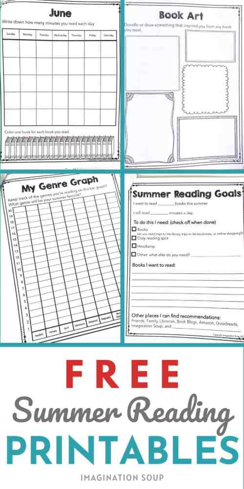 small resolution of Free Summer Reading Printable Packet for Kids Ages 6 - 13