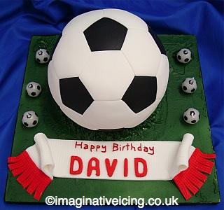 3d Football Birthday Cake Imaginative Icing Cakes Scarborough
