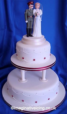 Military Uniform Topper Wedding Cake Imaginative Icing