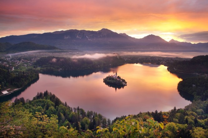 Bled at Sunset